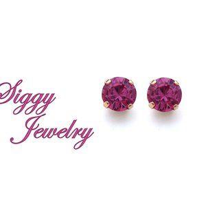 Swarovski® Crystal Rose Pink Stud Earrings